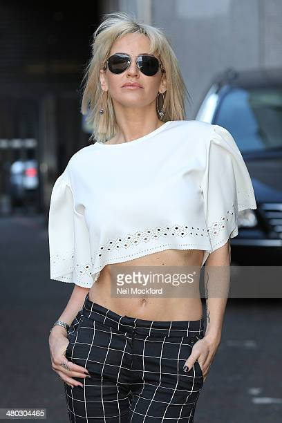 Sarah Harding seen at the ITV Studios after appearing on Lorraine on March 24 2014 in London England