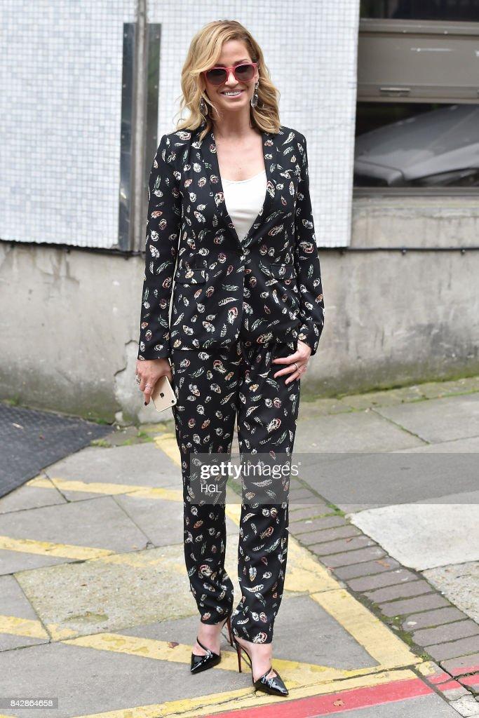 Sarah Harding seen at the ITV Studios n September 5, 2017 in London, England.