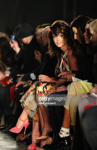 Sarah Harding seen in the front row at the Vivienne Westwood show at London Fashion Week Autumn/Winter 2011 on February 20 2011 in London England