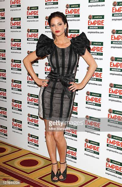 Sarah Harding seen in the press room at the Jameson Empire Awards at The Grosvenor House Hotel on March 27 2011 in London England