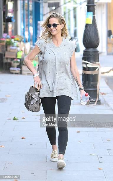 Sarah Harding sighted in Primrose Hill on July 30 2012 in London England