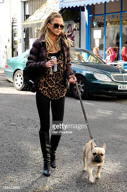 Sarah Harding sighted in Primrose Hill on October 5 2012 in London England