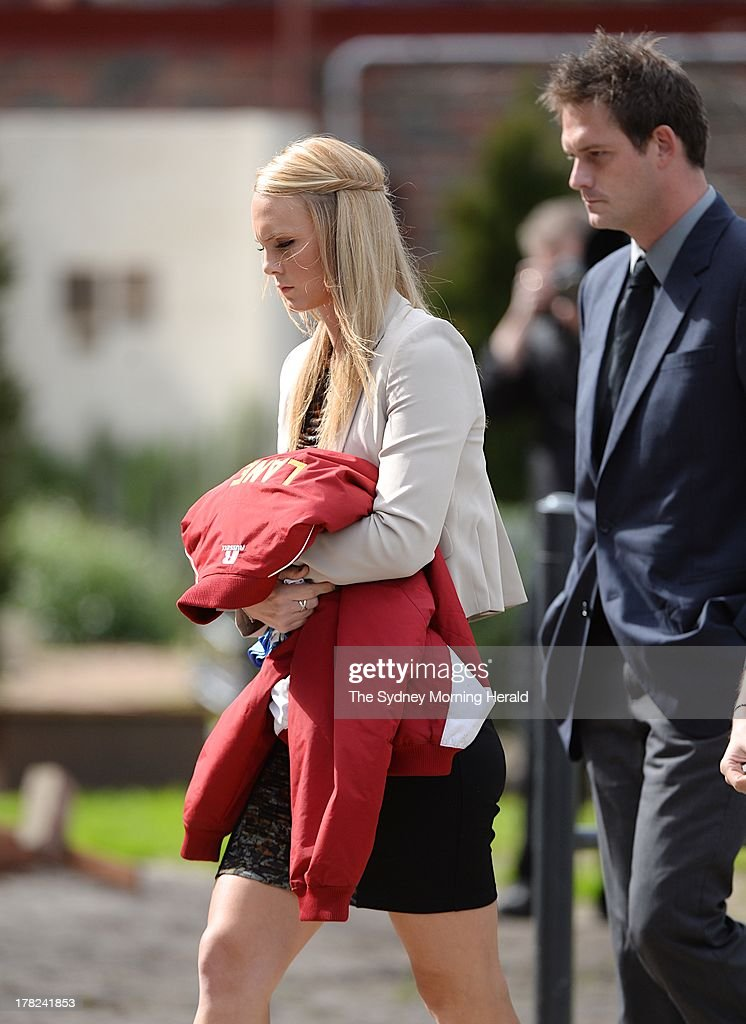 Sarah Harper, the girlfriend of Chris Lane attends the funeral service of Chris Lane at Saint Thereses Parish Church on August 28, 2013 in Melbourne, Australia. Australian Chris Lane was shot dead in Duncan, Oklahoma. Three teenage males have now been accused of the murder.