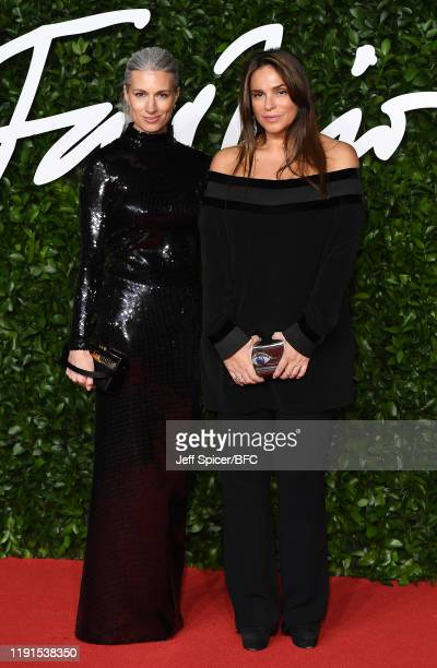 Sarah Harris and Celia Kritharioti arrives at The Fashion Awards 2019 held at Royal Albert Hall on December 02 2019 in London England