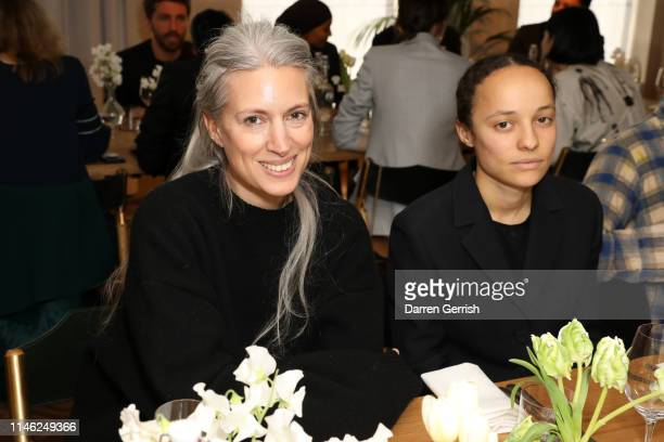 Sarah Harris and Grace Wales Bonner attend the BFC/Vogue Designer Fashion Fund announcement lunch on May 01 2019 in London United Kingdom