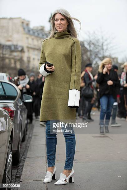 Sarah Harris at the Jean Paul Gaultier show on January 27 2016 in Paris France