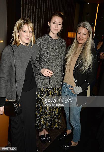 Sarah Harris attend the BFC/Vogue Designer Fashion Fund 2016 winners announcement at Bulgari Hotel on March 22 2016 in London England