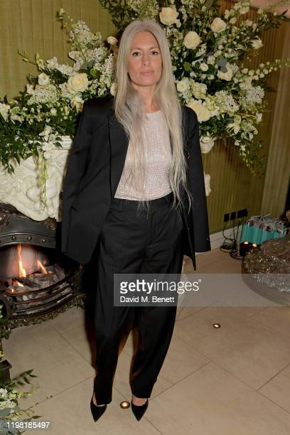 Sarah Harris attends the British Vogue and Tiffany Co Fashion and Film Party at Annabel's on February 2 2020 in London England