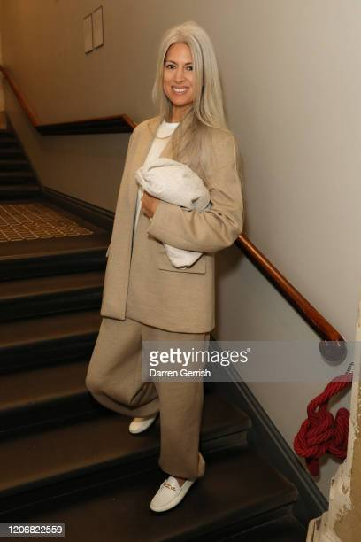 Sarah Harris attends the Erdem show during London Fashion Week February 2020 on February 17 2020 in London England