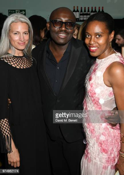 Sarah Harris Edward Enninful and Susan Bender attend a private dinner hosted by Edward Enninful in honour of Giambattista Valli to celebrate the...