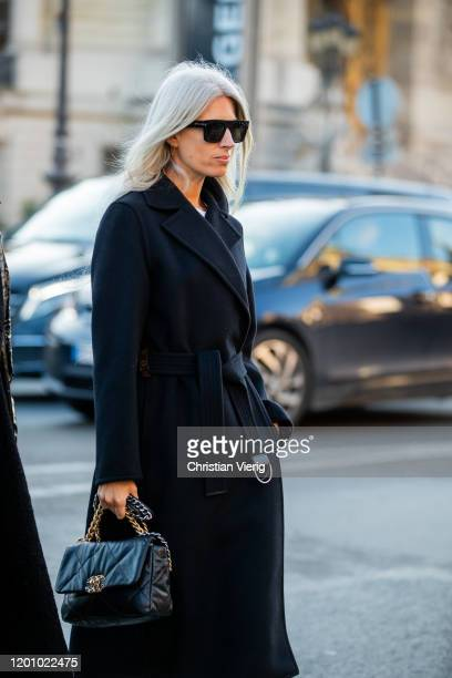 Sarah Harris is seen outside Chanel during Paris Fashion Week Haute Couture Spring/Summer 2020 on January 21 2020 in Paris France