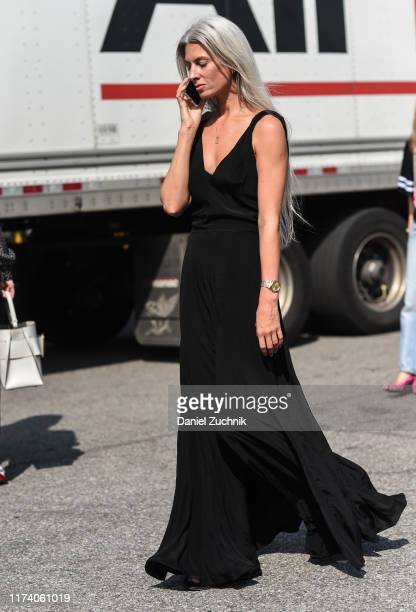 Sarah Harris is seen outside the Michael Kors show during New York Fashion Week S/S20 on September 11, 2019 in New York City.