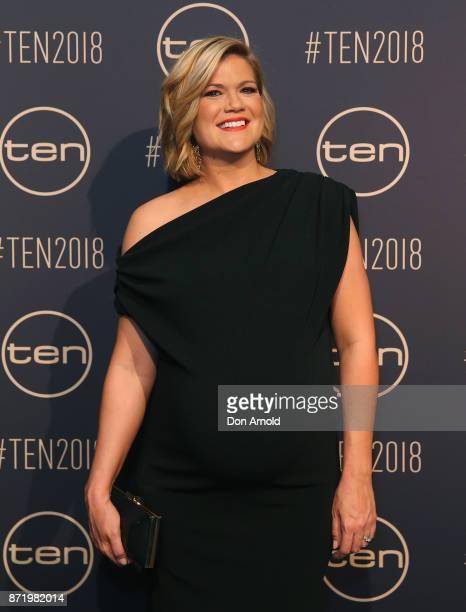 Sarah Harris poses during the Network Ten 2018 Upfronts on November 9 2017 in Sydney Australia