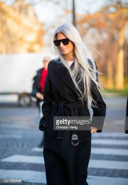 Sarah Harris seen outside Alexandre Vauthier during Paris Fashion Week Haute Couture Spring/Summer 2020 on January 21 2020 in Paris France