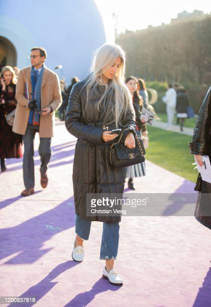Sarah Harris seen outside Dior during Paris Fashion Week Haute Couture Spring/Summer 2020 on January 20 2020 in Paris France