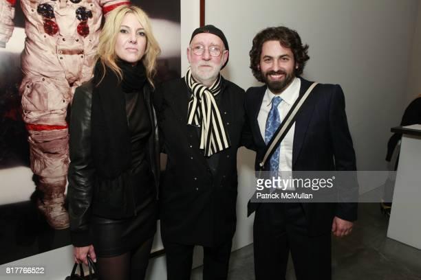 Sarah Hasted Albert Watson and Joseph Kraeutler attend ALBERT WATSON Artist Reception at Hasted Kraeutler Gallery on October 21 2010 in New York City