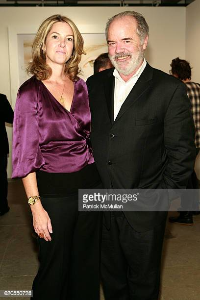 Sarah Hasted and Bill Hunt attend MICHAEL THOMPSON Exhibition Opening at Hasted Hunt Gallery on September 11 2008 in New York City