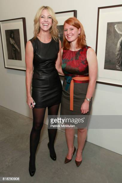 Sarah Hasted and Elizabeth Denny attend ALBERT WATSON Artist Reception at Hasted Kraeutler Gallery on October 21 2010 in New York City