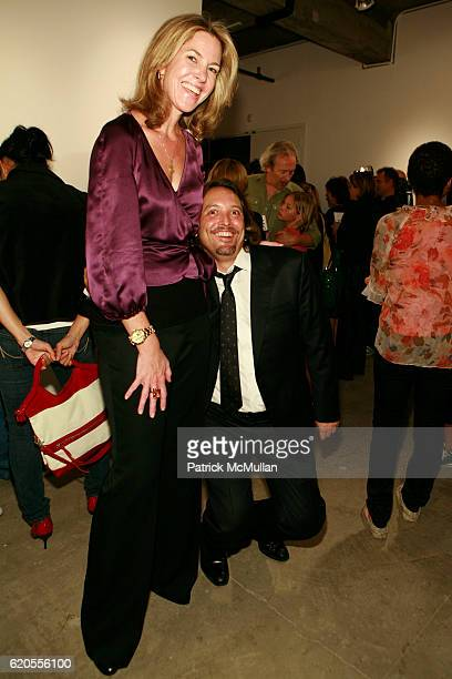 Sarah Hasted and Jed Root attend MICHAEL THOMPSON Exhibition Opening at Hasted Hunt Gallery on September 11 2008 in New York City