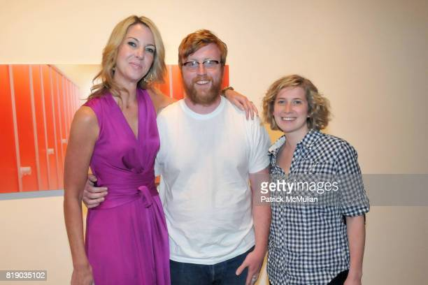 Sarah Hasted Pete Killeen and Susan Getzendanner attend JULIAN FAULHABER's Artist Reception at Hasted Hunt Kraeutler Gallery on May 6th 2010 in New...