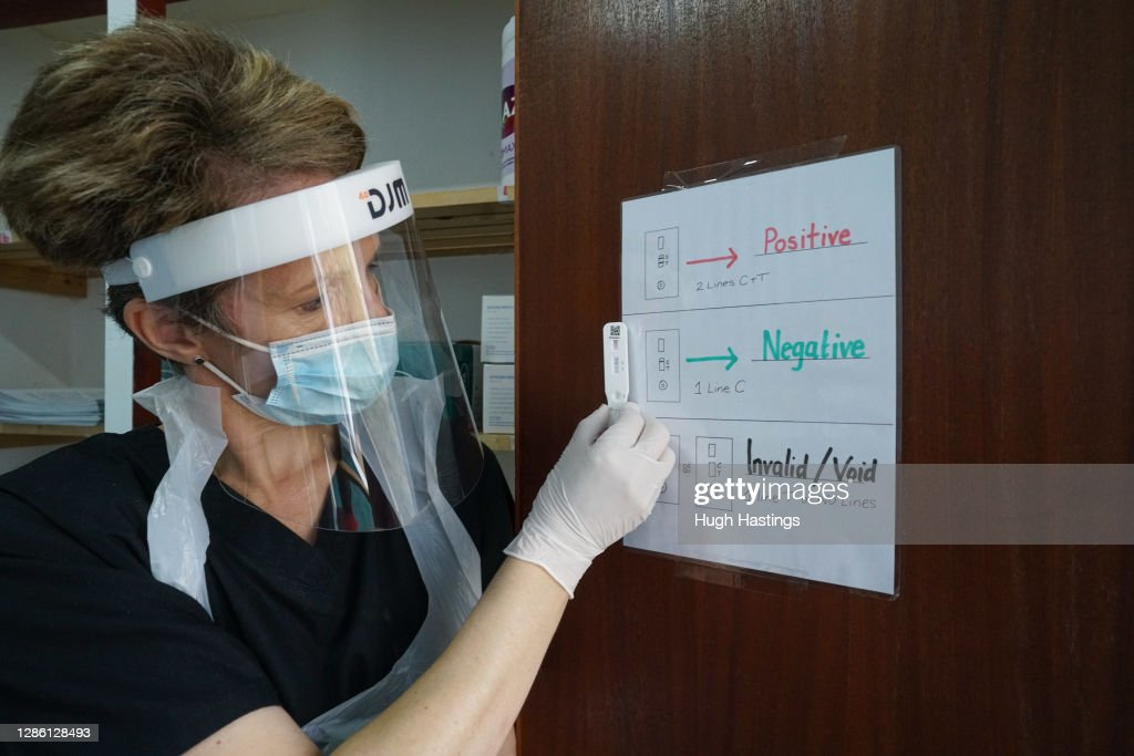 Care Homes Trial Rapid Covid-19 Testing For Visitors : News Photo