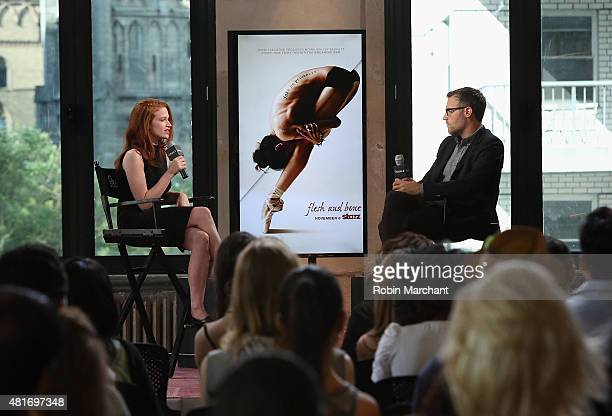 Sarah Hay and Ricky Camilleri attend AOL BUILD Speaker Series 'Flesh And Bone' at AOL Studios In New York on July 23 2015 in New York City