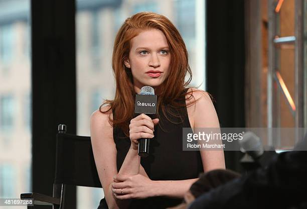 Sarah Hay attends AOL BUILD Speaker Series 'Flesh And Bone' at AOL Studios In New York on July 23 2015 in New York City