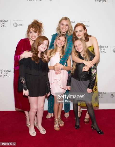 Sarah Hay Tai Lyn Sandhu Imogen Waterhouse Dhoni Middleton Madeline Brewer and Zoe Feigelson attend the Braid screening during the 2018 Tribeca Film...