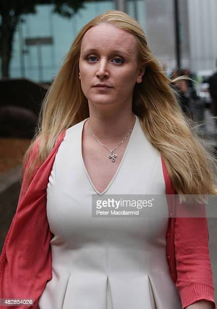 Sarah Hayes wife of jailed trader Tom Hayes leaves Southwark Crown Court on August 3 2015 in London England Mr Hayes a former UBS and Citigroup...