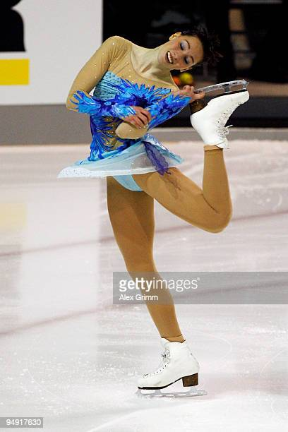 Sarah Hecken performs during the women's free skating at the German Figure Skating Championships 2010 at the SAP Arena on December 19, 2009 in...