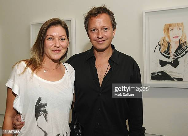 Sarah Heering and Gregers Heering during the opening reception for Diane MarshallGreen's Lolitas at America Martin Gallery on October 27 2012 in Los...