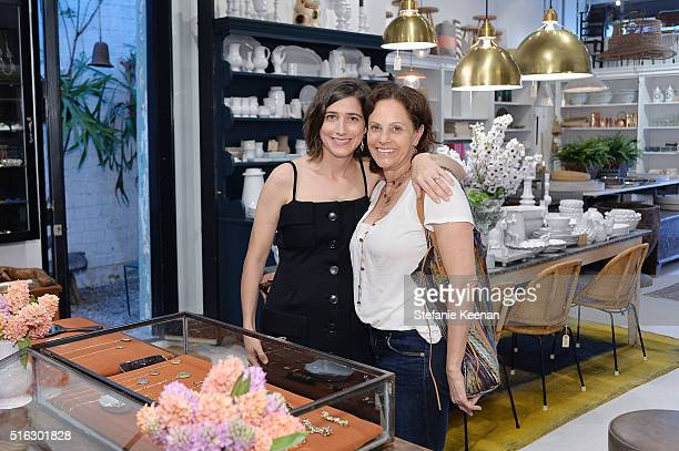 Sarah Hendler and Nancy Banks attend Sarah Hendler Estate Debuts At Nickey Kehoe/NK Shop on March 17 2016 in Los Angeles California