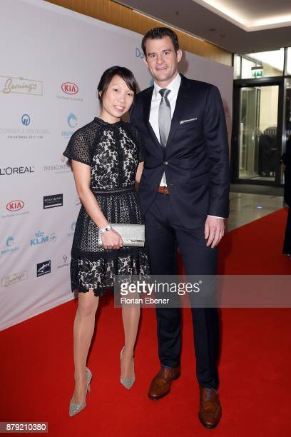 Sarah Henke and Christian Eckhardt attend the charity event Dolphin's Night at InterContinental Hotel on November 25 2017 in Duesseldorf Germany