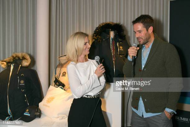 Sarah Hewson and Frank Lampard attend the launch of Jamie Redknapp's fashion venture Sandbanks at Yopo The Mandrake Hotel on October 24 2019 in...
