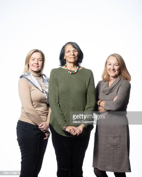 Sarah Hirshland CEO US Olympic Committee Anita DeFrantz vice president International Olympic Committee and Susanne Lyons Chair US Olympic Committee...