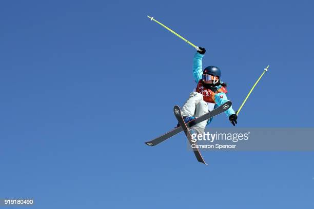 Sarah Hoefflin of Switzerland competes during the Freestyle Skiing Ladies' Ski Slopestyle final on day eight of the PyeongChang 2018 Winter Olympic...