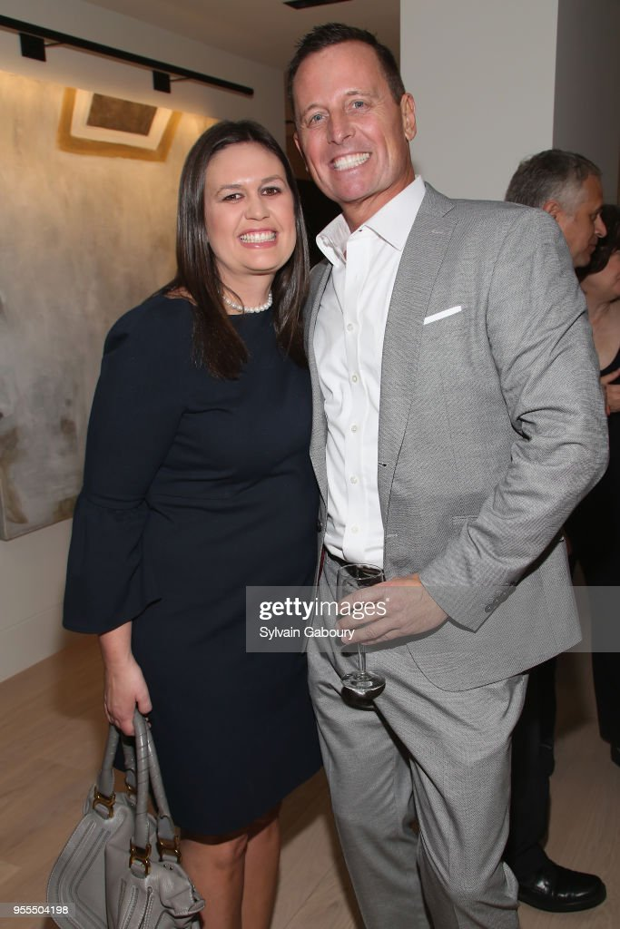 Sarah Huckabee Sanders and Ambassador Richard Grenell attend Ambassador Grenell Goodbye Bash on May 6, 2018 in New York City.