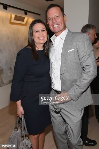 Sarah Huckabee Sanders and Ambassador Richard Grenell attend Ambassador Grenell Goodbye Bash on May 6 2018 in New York City