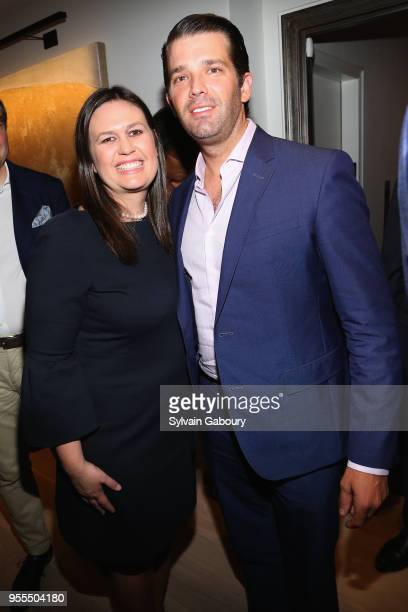 Sarah Huckabee Sanders and Donald Trump Jr attend Ambassador Grenell Goodbye Bash on May 6 2018 in New York City