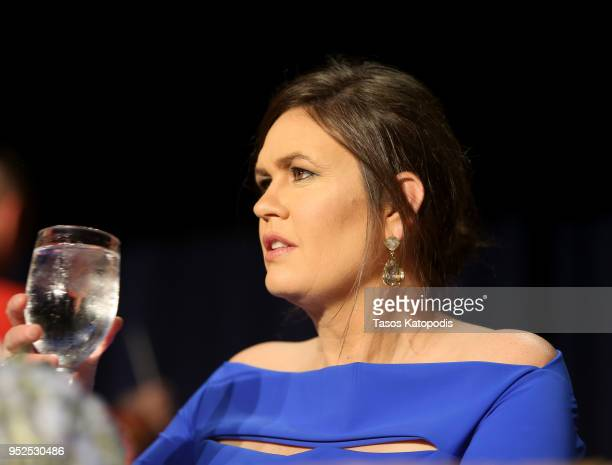 Sarah Huckabee Sanders attends the 2018 White House Correspondents' Dinner at Washington Hilton on April 28 2018 in Washington DC