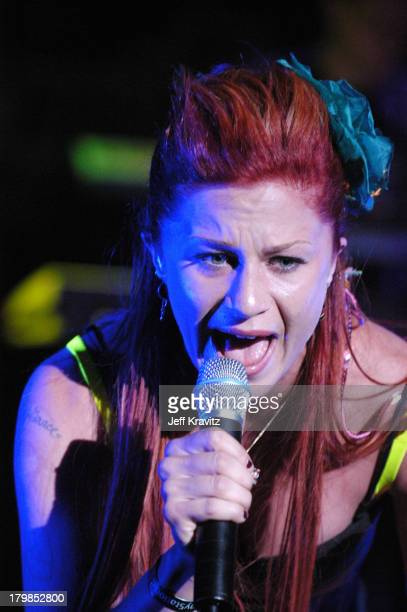 Sarah Hudson during Rock The Vote 2004 National Bus Tour Concert June 16 2004 at Avalon in Hollywood California United States