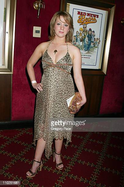 Sarah Hughes during 'Bad News Bears' New York City Premiere Inside Arrivals at Ziegfeld Theater in New York City New York United States