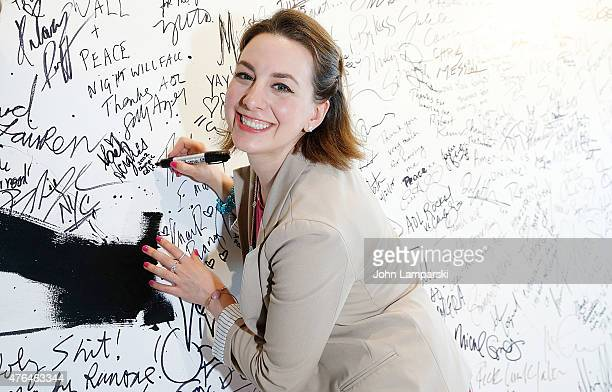 Sarah Hughes in conversation during AOL BUILD Speaker Series at AOL Studios In New York on June 9 2015 in New York City