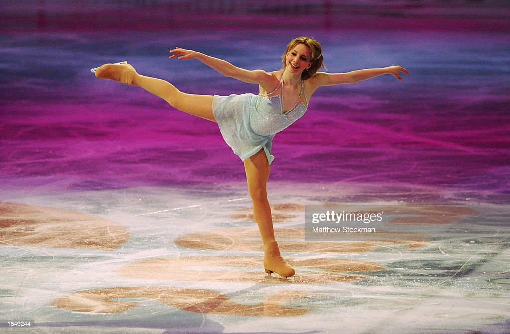 Sarah Hughes performs during the Chevy Skating Spectacular, part of the State Farm US Figure Skating Championships at the American Airlines Center on January 19, 2003 in Dallas, Texas.