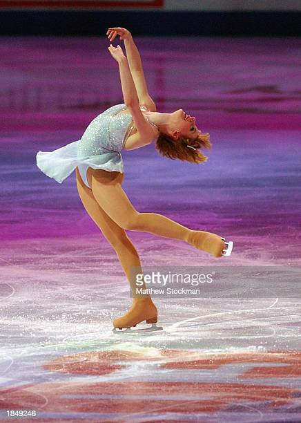 Sarah Hughes performs during the Chevy Skating Spectacular part of the State Farm US Figure Skating Championships at the American Airlines Center on...