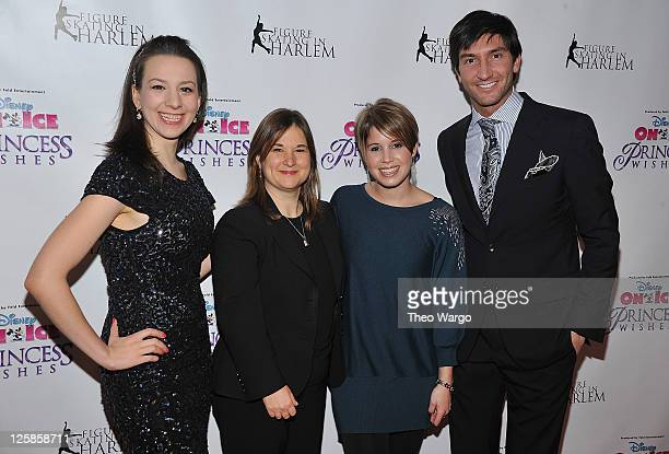 Sarah Hughes Sharon Cohen Nicole Feld and Evan Lysacek attend 'Disney On Ice Presents Princess Wishes' opening night at Madison Square Garden on...