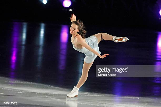 Sarah Hughes skates during A Salute To The Golden Age Of American Skating show at Boardwalk Hall Arena on December 11 2010 in Atlantic City New Jersey