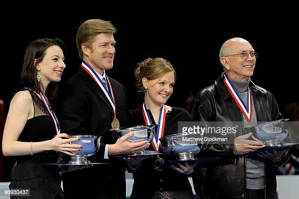 Sarah Hughes Todd Sands Jenni Meno and Robert Turks are inducted into the US Figure Skating Hall of Fame during the US Figure Skating Championships...