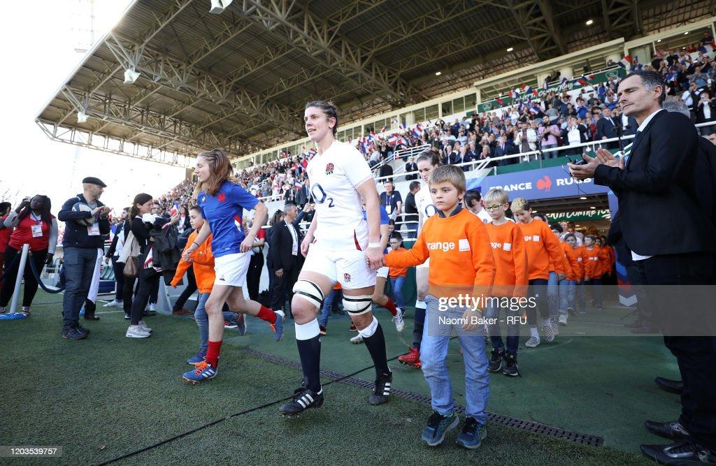 France v England - Women's Six Nations Tournament : News Photo