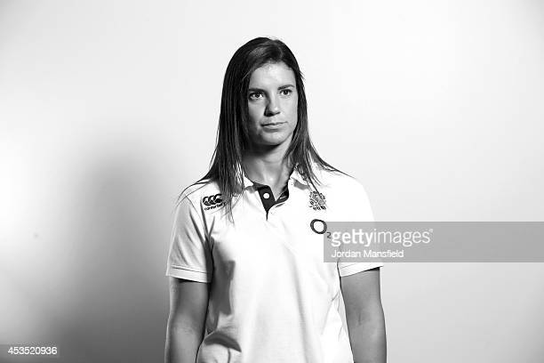 Sarah Hunter poses for a portrait during the IRB Women's Rugby World Cup 2014 on August 12 2014 in Paris France